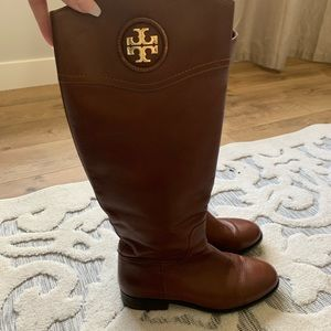 Tory Burch Claire Everly calf leather riding boots